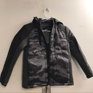 Urban Republic Gray Black Camo Jacket Boy 10/12